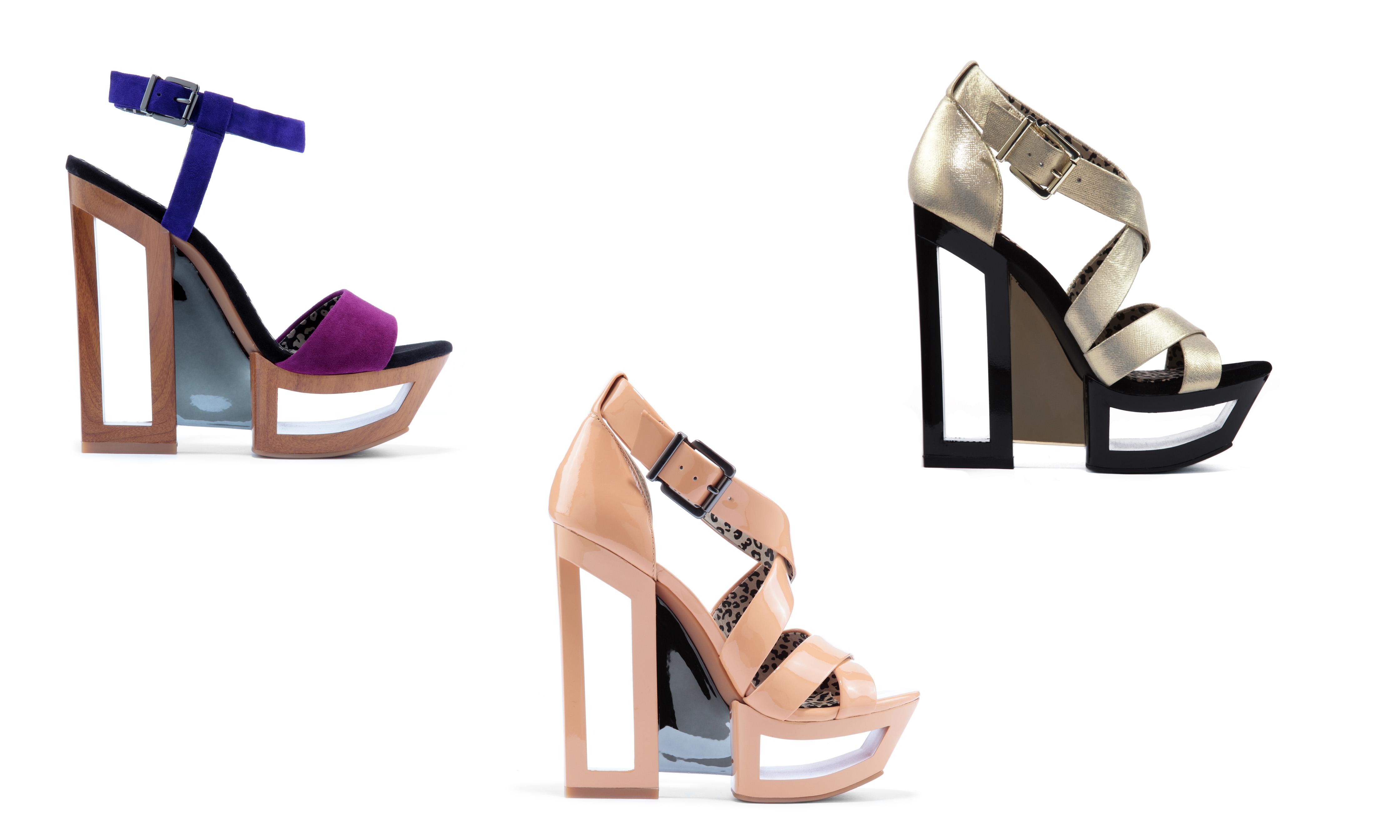 Jessica Simpson y sus tacones geométricos