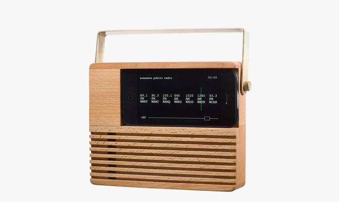 Vintage Radio Style Dock for iPhones