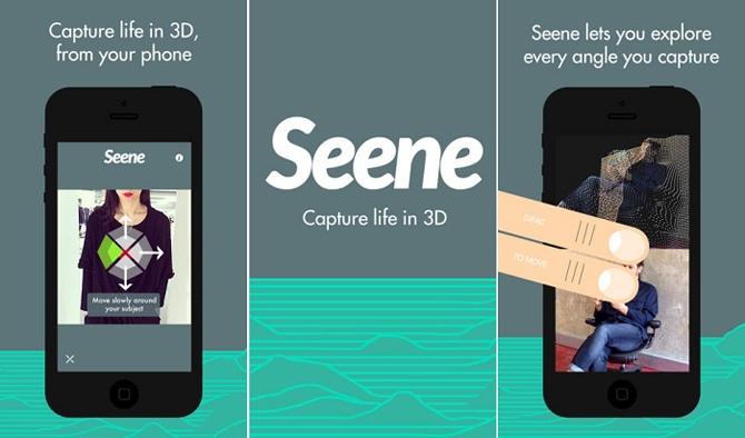 Seene app, share life in 3D