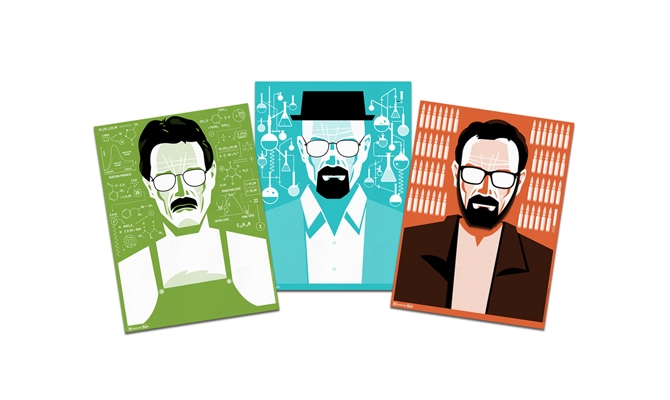 ?Breaking Bad? Evolution of Walter White Posters