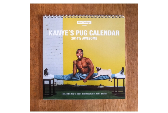 Kanye's pug calendar