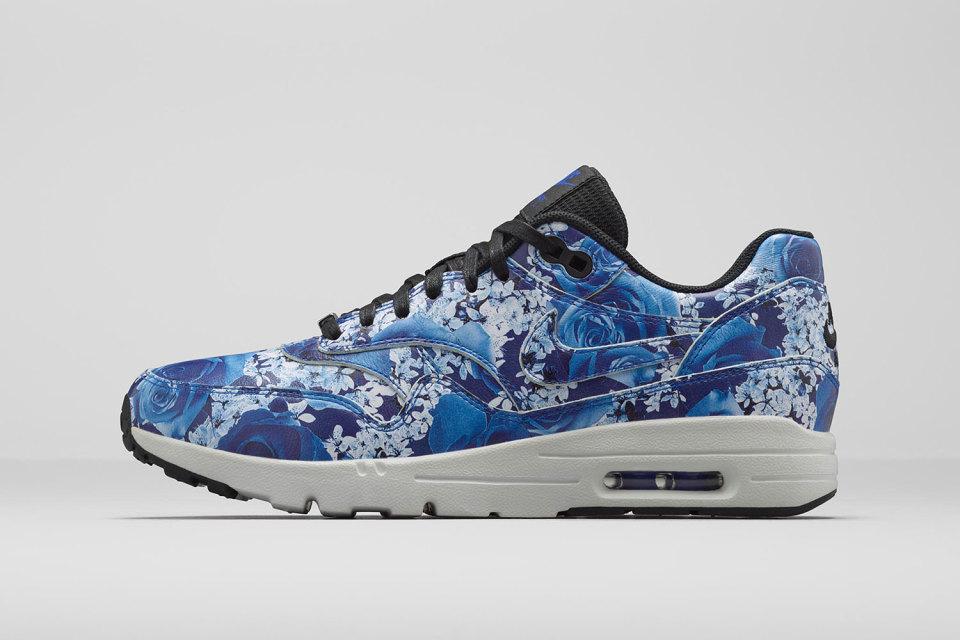 Nike Air Max 1 Ultra LOTC QS Tokyo Women's Shoes Lyon BlueLyon Blue Summit White Black 747105 401