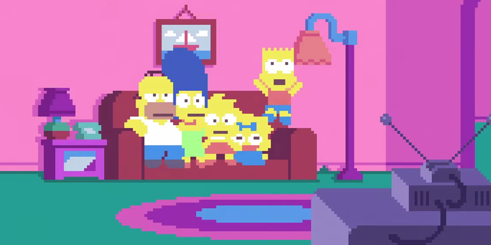The Simpsons pixelados
