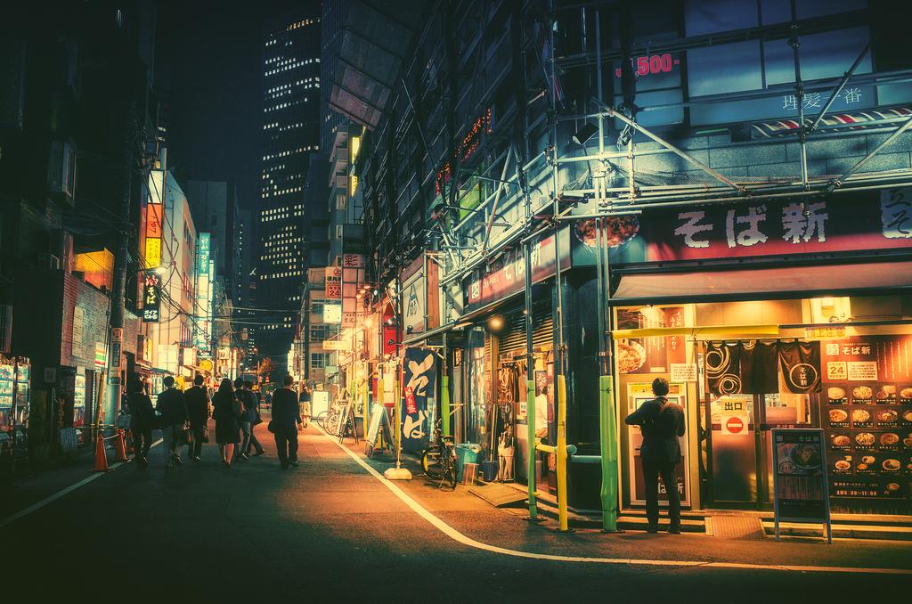 Un Tokio nocturno casi surreal