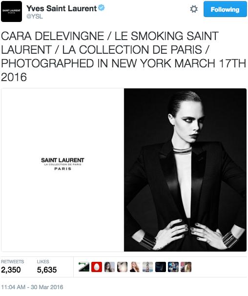 Cara Delevingne & Saint Laurent