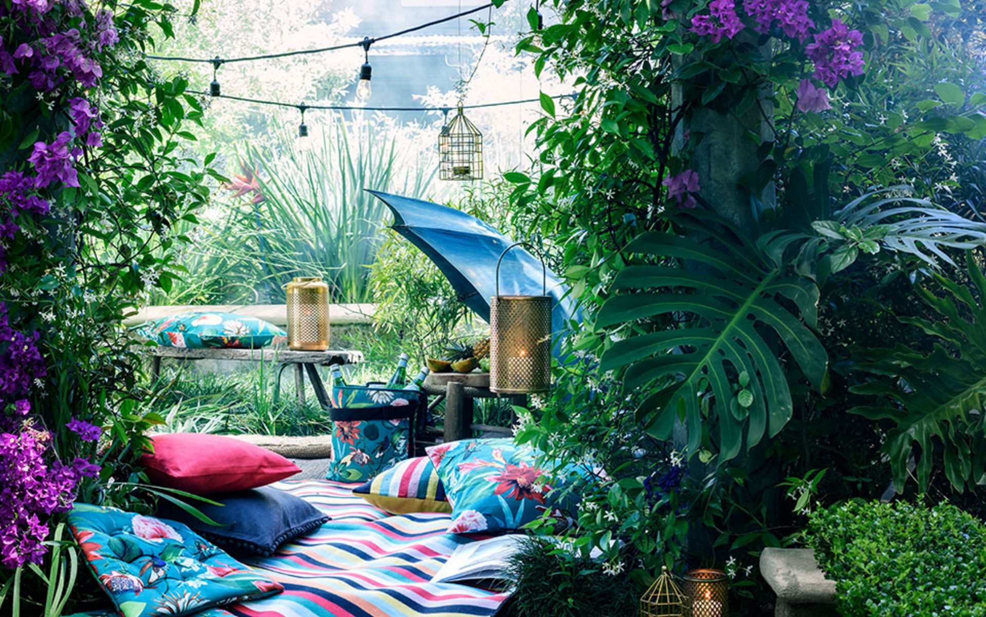 Un hogar tropical y colorista con H&M Home