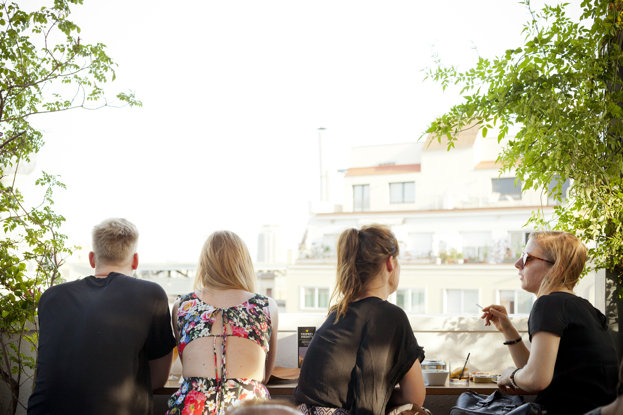 La terraza del Hotel Pulitzer, un oasis en medio de la ciudad