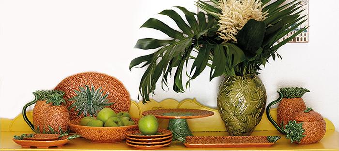 Bordallo Pinheiro presenta Piñas, la vajilla tropical