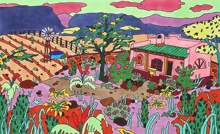 Las coloridas obras de Olivié Keck