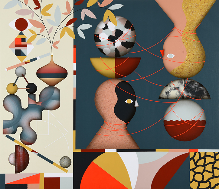 Las obras abstractas de Hell'O Collective