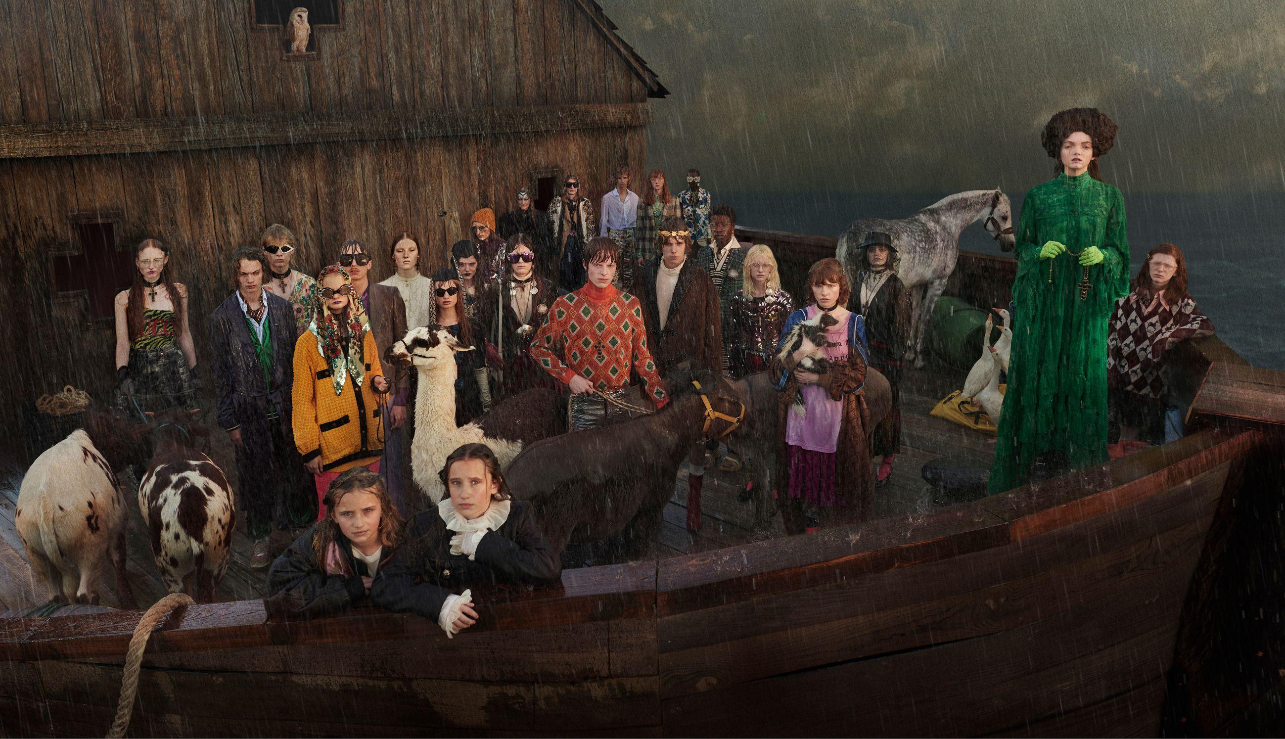 Gucci recrea el Arca de Noé en la última campaña 'Gucci Gothic'