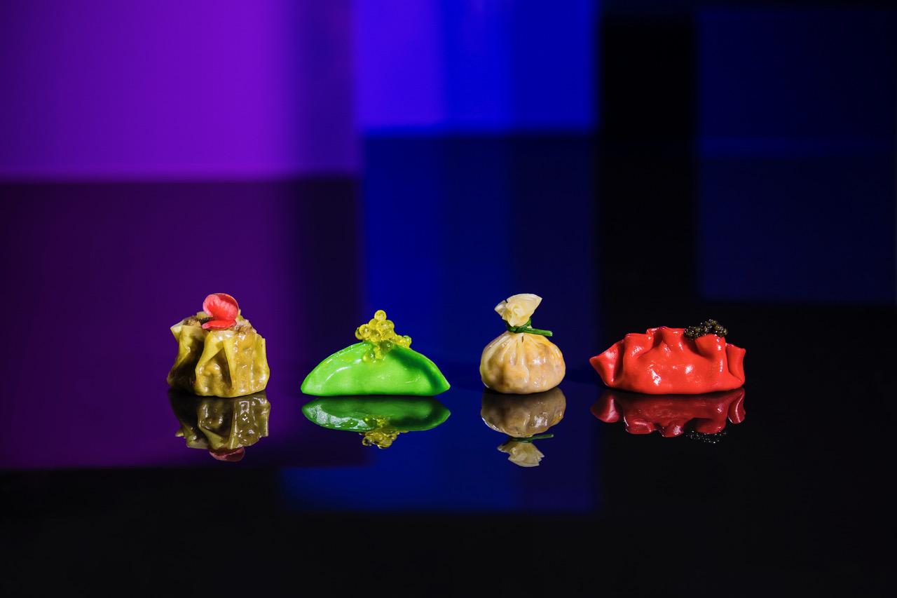 Foto grupo dumplings