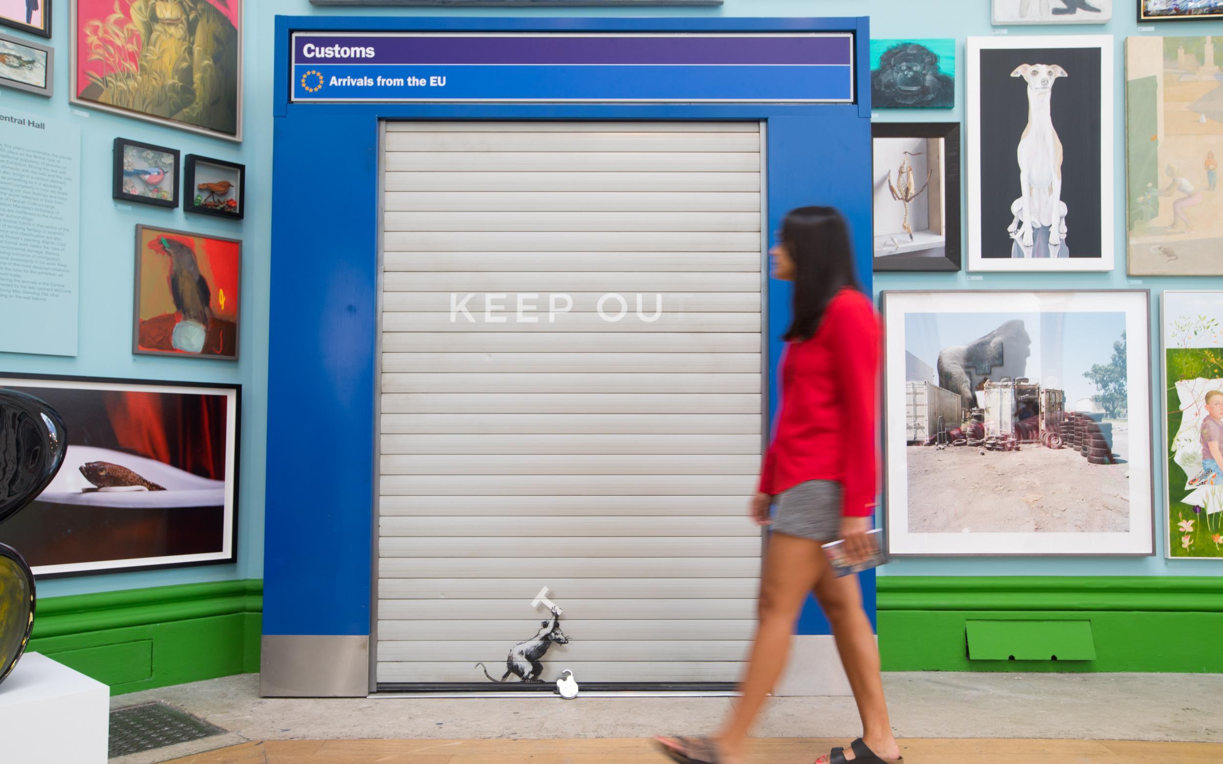 Banksy reaparece en la exposición de verano de la Royal Academy de Londres