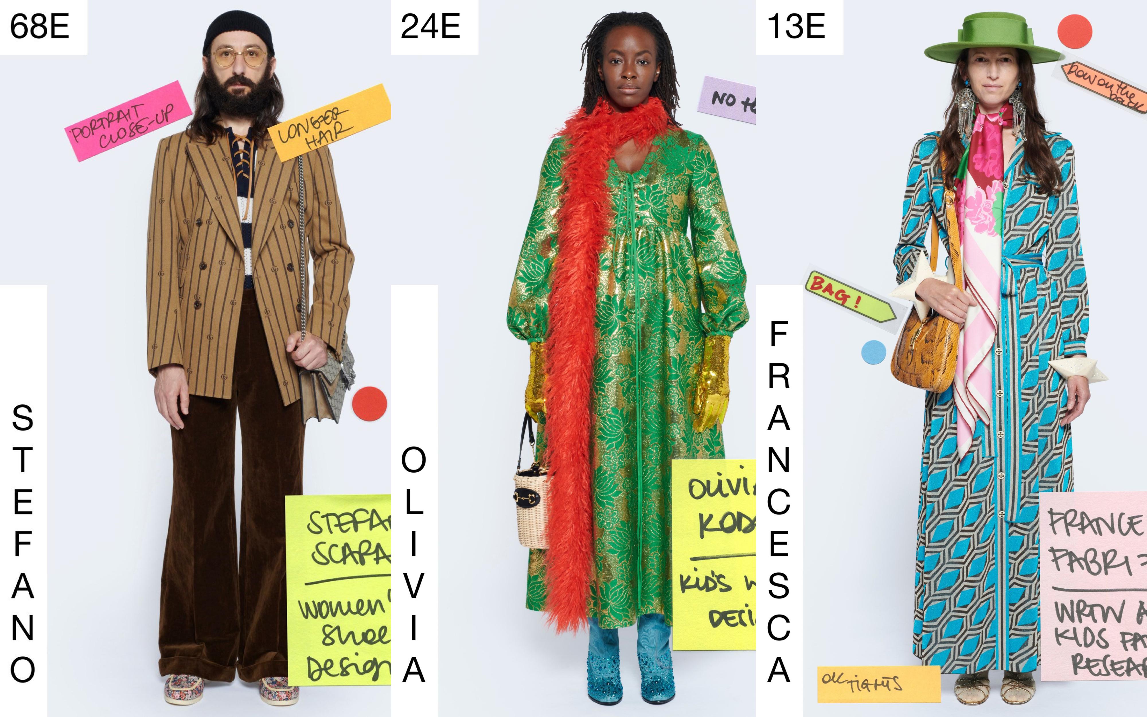 Gucci 'Epilogue' substituye a los modelos por diseñadores